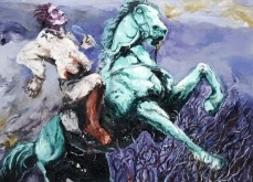 La danse des fous, 2011, huile sur toile, 130X197 cm.