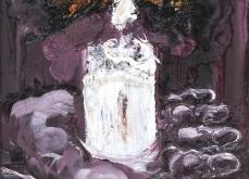 Lux II 2010, huile sur toile, 30X30cm, collection privée.