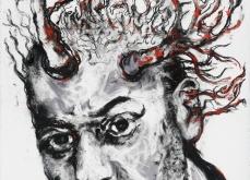 Fire Kunst, 2011, pastel sur papier, 57X76 cm.