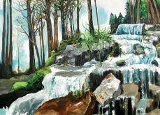 Furania, 2014, huile sur toile, 200x200cm, collection privée.