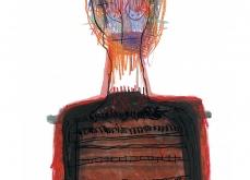La mémoire au corps, 1999, huile sur papier, 75X105 cm. Collection privée.