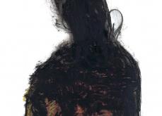 Présence noir, 1999, huile sur papier, 75X105 cm. Collection privée.