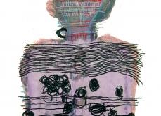 Strate, 1999, huile sur papier, 75X105 cm.