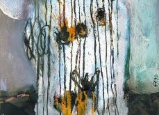 Visage anonyme, 1999, huile sur papier, 30X40 cm.
