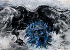 Angel, 2010, pastel sur papier, 57X228 cm.