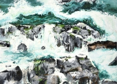 Be a water, 2015, huile sur toile,114X147 cm.