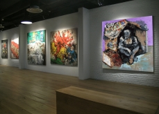 Vue de l'exposition, Made in India, Espace Univers, 2006, paris.