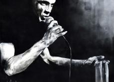 Portrait de Mano Solo, pastel sur papier, 130x130 cm,2015.