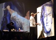 Performance picturale sur scène, 2010. Cité Internationale des Congrès de Nantes.