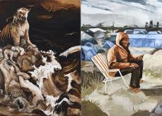 «Le chant d'Amar, Mossoul»  huile sur toile, 200x400 cm, 2017.