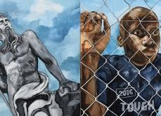« Lesbos » Huile sur toile, 200x400 cm, 2016.