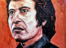 Victor Jara , huile sur toile 114x147 cm, 2019.