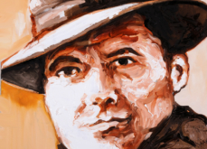 Jean Moulin, huile sur toile 60x60cm, 2009.