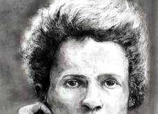 Marie Curie, pastel sur papier, 80x120 cm, 2019.