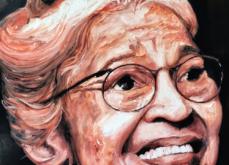 Rosa Parks, huile sur toile 114x147 cm, 2019.