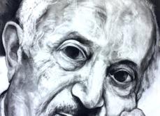 Simon Wiesenthal, pastel sur papier, 80x120 cm, 2019.