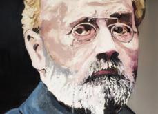 Emile Zola, huile sur toile 114x147 cm, 2019.