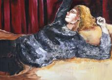 Intimis III, huile sur toile 197x130 cm,2014.