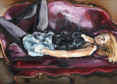 Intimis II, huile sur toile 197x130 cm,2014.