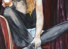 Intimis, huile sur toile 197x130 cm,2014.