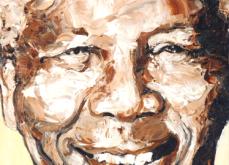 Mandela, huile sur toile 60x60cm, 2009.