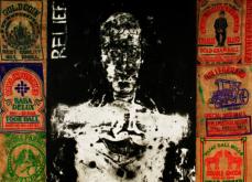 Relief, huile sur toile et collage,237x198cm, 2005.
