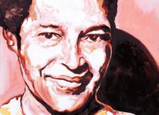 Rosa Parks, huile sur toile 60x60cm, 2009.