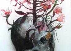 Germination, pastel sur papier 80x120 cm,2018.