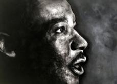 Martin Luther King, pastel sur papier, 80x120 cm, 2019.