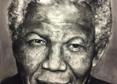 Nelson Mandela, pastel sur papier 80x120 cm, 2019.