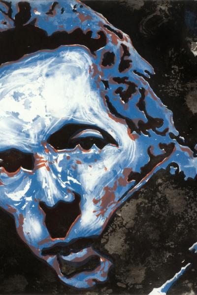 Joe strummer, 2010, gravure Aquatinte sur papier arche, 75X105 cm, 2010, édition limitée