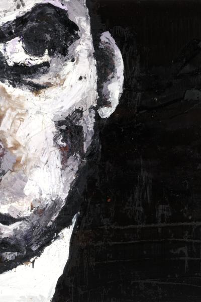 Nick Cave, huile sur toile 150X150cm, 2007. collection privée.