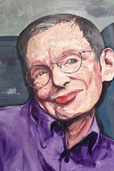 « Stephen Hawkins », huile sur toile 114x147 cm, 2019