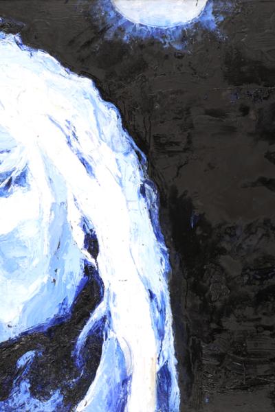 Blondie, huile sur toile 197X130 cm, 2007.
