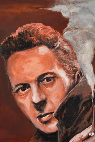 Joe Strummer, huile sur toile 114x147 cm, 2019