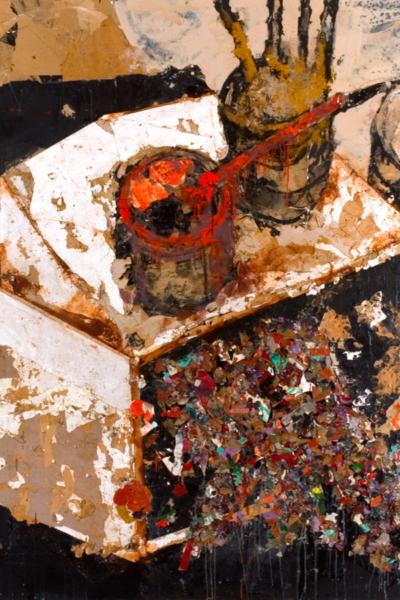 Cause commune, huile sur toile 200X200 cm, 2003.