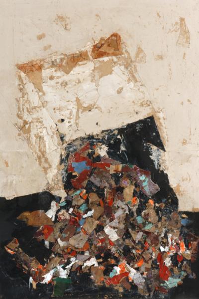 Carton, huile sur toile 80X120 cm, 2003.