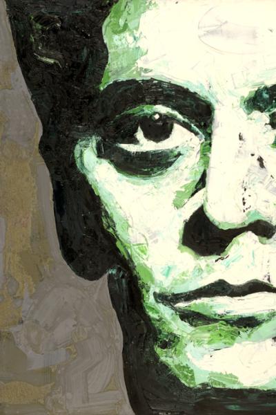 Lou Reed, huile sur toile, 130X197cm, 2007. collection privée.