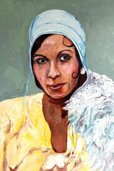 « Josephine Baker »huile sur toile 114x147 cm, 2019