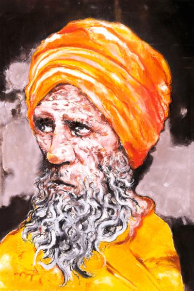 Sadhou, pastel sur papier 76X57 cm. 2005