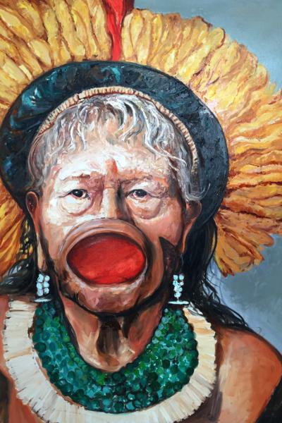 « Raoni », huile sur toile 114x147 cm, 2019