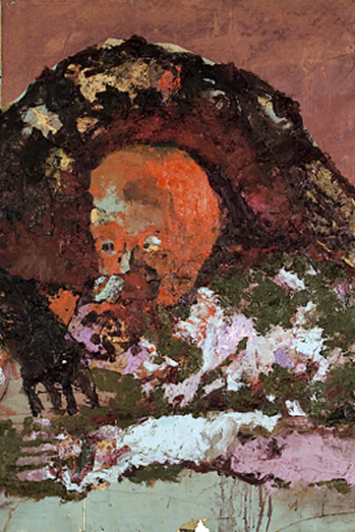 Cannibalisme, huile sur toile 97X162 cm, 2001.