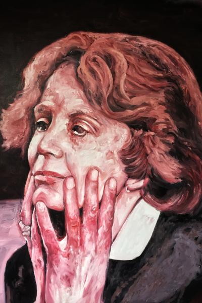 Gisele Halimi, huile sur toile, 114x147cm, 2019 Fred kleinberg