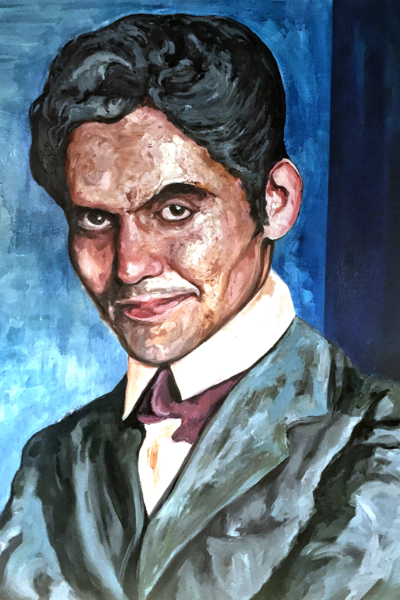 « Federico Garcia Lorca » huile sur toile 114x147 cm, 2019