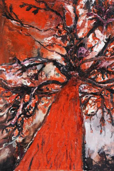 Autre vertige, huile sur toile, 110X132 cm,2010. collection privée