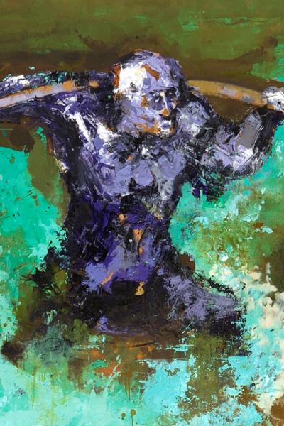 Bengal, huile sur toile, 197X130cm, 2005.