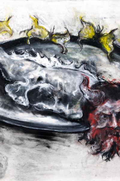 Dionysos, pastel sur papier, 57X76 cm, 2011. Collection privée.