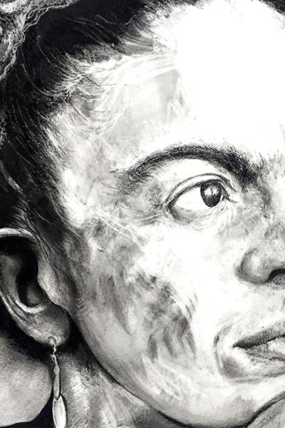 Frida Khalo, pastel sur papier, 80x120 cm, 2019.