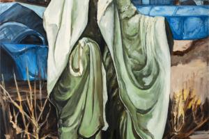le fantôme de Calais, huile sur toile, 114x147 cm, 2018.