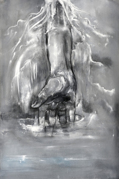Insaisissable, pastel sur papier 80X120 cm, 2013.Collection privée.